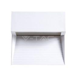 Επιτοίχιο φωτιστικό LED σκάλας 3W Τετράγωνο Λευκό 3000K Θερμό λευκό IP65 vtac 1402