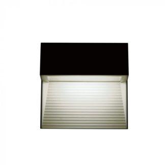 Επιτοίχιο φωτιστικό LED σκάλας 3W Τετράγωνο Μαύρο 3000K Θερμό λευκό IP65 VTAC 1398