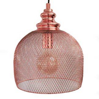 Κρεμαστό Φωτιστικό Straiton 49738 Χρώμα Χαλκού