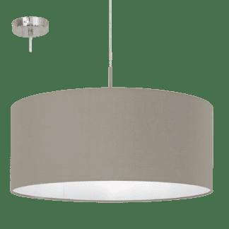 Κρεμαστό μεταλλικό φωτιστικό PASTERI 31576 Ø530mm σε χρώμα τέφρας