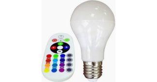 Λάμπα LED E27 A60 SMD 6W RGB+Θερμό λευκό 2700K Λευκό Blister 7324