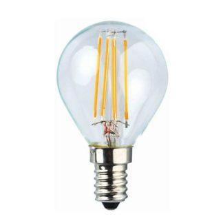 Λάμπα led filament σφαιρική Ε14 4W 2700k θερμό λευκό φως E14-00606
