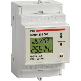 Μονοφασικός ψηφιακός μετρητής KWH ENERGY - 230 D63 με οθόνη LCD 308-003973400