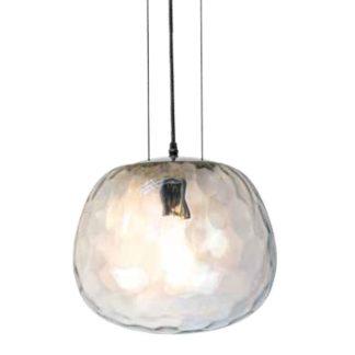 Μονόφωτο κρεμαστό φωτιστικό Γυαλί με Διάφανο Χρώμιο σώμα Ø250 3882