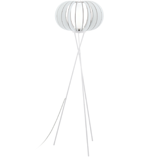 Φωτιστικό Δαπέδου Ξύλινο Λευκό Stellato 95612