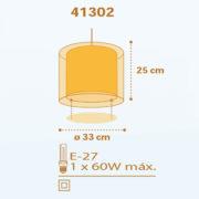 Submarine φωτιστικό οροφής διπλού τοιχώματος 41302_D