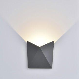 LED απλίκα 5W αρχιτεκτονικού φωτισμού 3000K Θερμό λευκό Γκρι σώμα 8284