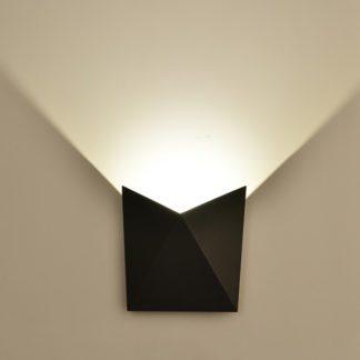 LED απλίκα 5W αρχιτεκτονικού φωτισμού 3000K Θερμό λευκό Μαύρο σώμα 8282