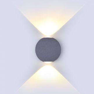 LED απλίκα 6W αρχιτεκτονικού φωτισμού 3000K Θερμό λευκό Γκρι σώμα στρογγυλό 8305