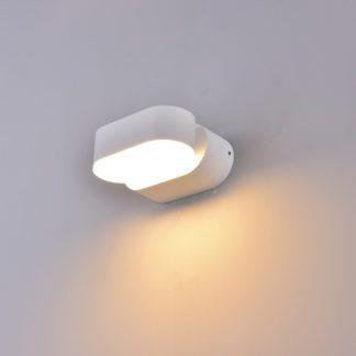 LED απλίκα 6W αρχιτεκτονικού φωτισμού 3000K Θερμό λευκό Λευκό σώμα περιστρεφόμενο 8286