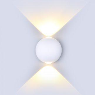 LED απλίκα 6W αρχιτεκτονικού φωτισμού 3000K Θερμό λευκό Λευκό σώμα στρογγυλό vtac 8301