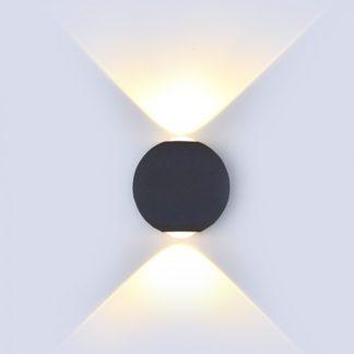 LED απλίκα 6W αρχιτεκτονικού φωτισμού 3000K Θερμό λευκό Μαύρο σώμα στρογγυλό 8303