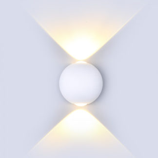 LED απλίκα 6W αρχιτεκτονικού φωτισμού 4000K Φυσικό λευκό Λευκό σώμα στρογγυλό vtac 8302
