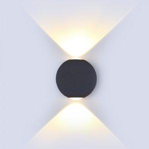 LED απλίκα 6W αρχιτεκτονικού φωτισμού 4000K Φυσικό λευκό Μαύρο σώμα στρογγυλό 8304
