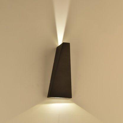 LED απλίκα 6W αρχιτεκτονικού φωτισμού 4000K Φυσικό λευκό Μαύρο σώμα 8298