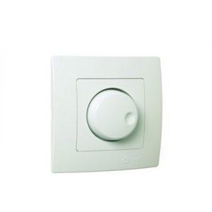 Διακόπτης Απλός Dimmer 600W Χωνευτός Λευκός Makel Lillium 32001011