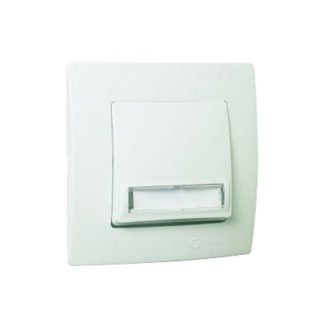 Διακόπτης Μπουτόν επιγραφής με φως Χωνευτός Λευκό Makel Lillium 32001130