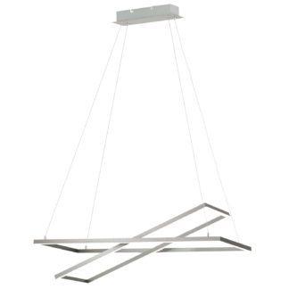 Κρεμαστό Φωτιστικό LED Σε Νίκελ Και Λευκό Χρώμα Tamasera 96815