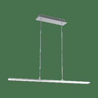 Κρεμαστό Φωτιστικό LED Σε Νίκελ & Λευκό Χρώμα Flagranera 97061