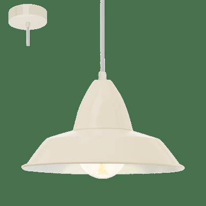 Κρεμαστό μεταλλικό φωτιστικό AUCKLAND Ε27 σε χρώμα της αμμού 49245