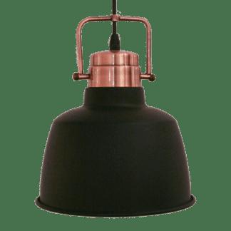 Κρεμαστό μεταλλικό φωτιστικό BODMIN Ε27 μαύρο-χαλκός 49692