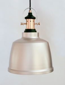Κρεμαστό μεταλλικό φωτιστικό GILWELL Ε27 σαμπανιζέ 49686