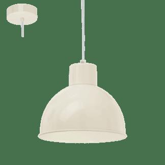 Κρεμαστό μεταλλικό φωτιστικό TRURO 1 Ε27 σε χρώμα της αμμού 49242