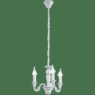 Κρεμαστό φωτιστικό CAPOSILE 49384 τρίφωτο λευκό