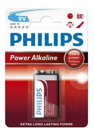 Μπαταρία PHILIPS Αλκαλική 9V 6LR61P1B Power Alkaline