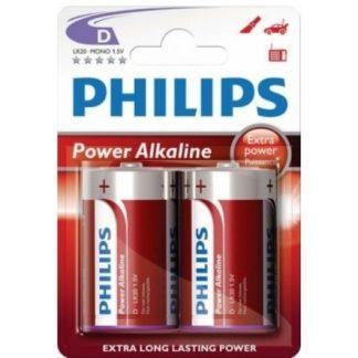 Μπαταρία PHILIPS Αλκαλική D 1,5V POWERLIFE LR20P2B