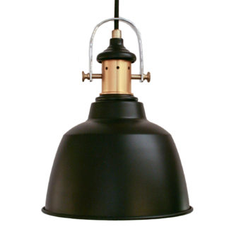 Φωτιστικό Κρεμαστό Σε Μαύρο & Μπρονζέ Gilwell 49693