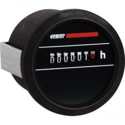 Ωρομετρητής πόρτας πίνακα VEMER HMC-230 230vαc ανάλυση 1/100h Φ58mm 308-001156600