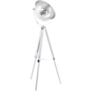 Vintage Φωτιστικό Δαπέδου Y164 Σε Λευκό, Χρώμιο & Ασημί Covaleda 49877