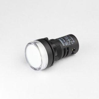 ΕΝΔΕΙΚΤΙΚΗ ΛΥΧΝΙΑ LED Φ22 380V ΛΕΥΚΗ AD22-22W Κωδ 022-015380100