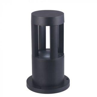 Επιδαπέδιο φωτιστικό εξωτερικού χώρου LED αδιάβροχο 10W, IP65, 3000K Θερμό λευκό, Μαύρο 250mm (8322)