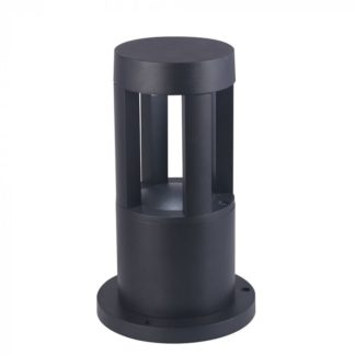 Επιδαπέδιο φωτιστικό εξωτερικού χώρου LED αδιάβροχο 10W IP65 4000K Φυσικό λευκό Μαύρο 250mm (8323)