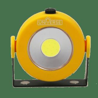 Φακός Εργασίας Με Led 3W 4xAAA Στρογγυλός Κίτρινος Universe WL138