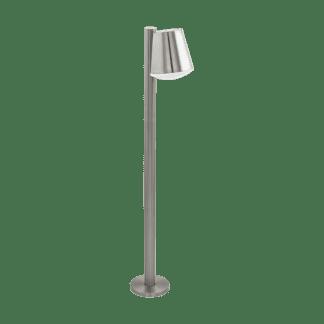 Φωτιστικό Κολωνάκι Σε Ανοξείδωτο Ατσάλι & Λευκό Χρώμα Caldiero-C 97485