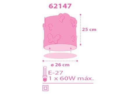 Butterfly οροφής φωτιστικό-πλαφονιέρα [62147] 3