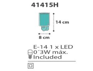 Clouds Green φωτιστικό νύκτας πρίζας LED [41415 H] 4