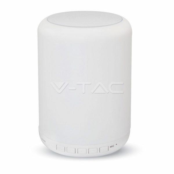 V-TAC Επιτραπέζιο φωτιστικό led 3W RGB και ηχείο bluetooth (8516)