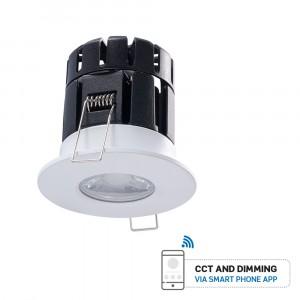 LED Φωτιστικό Spot οροφής 10W PRO Smart(bluetooth) Πυρίμαχο με εναλλαγή φωτισμού και Dimmable vtac 1424