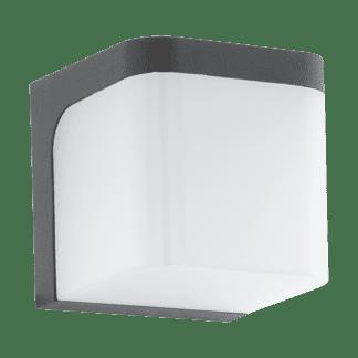Απλίκα Εξωτερικού Χώρου Led Κύβος Ανθρακί με Λευκό JORBA 96256