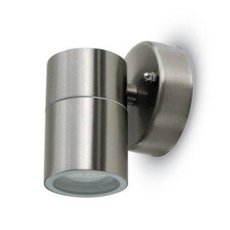Εξωτερικό επιτοίχιο φωτιστικό GU10 Στρογγυλό Stainless Steel Brush σώμα 7501