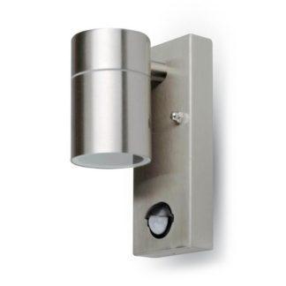 Εξωτερικό επιτοίχιο φωτιστικό GU10 Στρογγυλό Stainless Steel Brush σώμα 7502