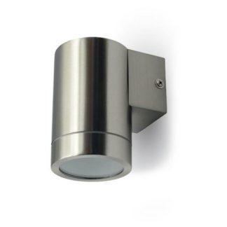 Εξωτερικό επιτοίχιο φωτιστικό GU10 Στρογγυλό Stainless Steel Brush σώμα 7506