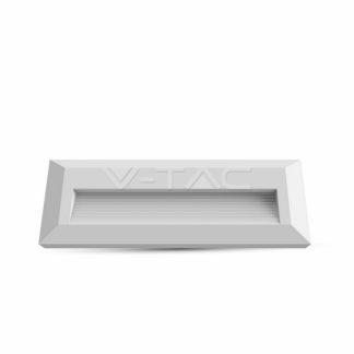 Επιτοίχιο φωτιστικό LED σκάλας 3W Ορθογώνιο Λευκό 4000K Φυσικό λευκό IP65 (1326)