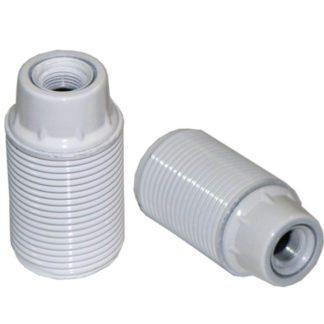 Ντουί βακελίτου EL290801 λευκό Ε14 με μεταλλικό σπείρωμα M10