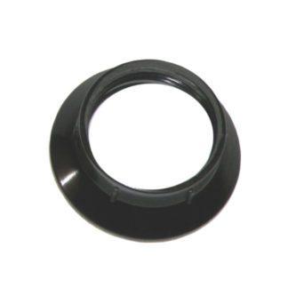Ντουί βακελίτου EL290802 μαύρο Ε14 με μεταλλικό σπείρωμα M10x1 & 2 ροδέλες 2