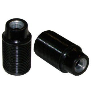 Ντουί βακελίτου EL290802 μαύρο Ε14 με μεταλλικό σπείρωμα M10x1 & 2 ροδέλες
